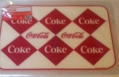 COCA COLA COKE  4 PC  RETRO DIAMOND PLACEMATS SET   NEW!