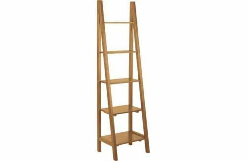 argos of house kennet solid pine ladder bookcase