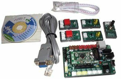 ATmega168 Experimenter Kit, LED, Switch, Poti, RS232