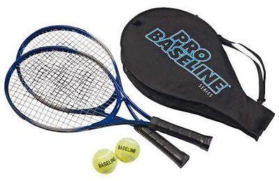 NUEVO Pro LINEA DE BASE 2 ALUMINIO Raquetas de tenis + 2 esferas Juego Niño Niña