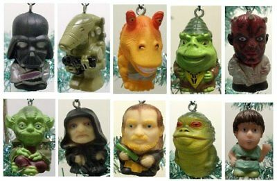 Star Wars 10 Christmas Ornaments w Yoda, Vador Darth Maul, Skywalker, and - Darth Vador