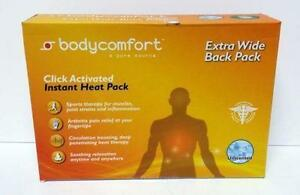 Bodycomfort Extra-wide Back Pack - Instant Heat Pack, NEW!