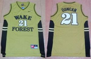 New Tim Duncan Wake Forest NCAA Jersey Rare Throwback