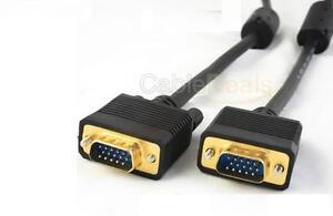 5M VGA SVGA 15 PIN CABLE PC TO TFT MONITOR LCD TV LEAD