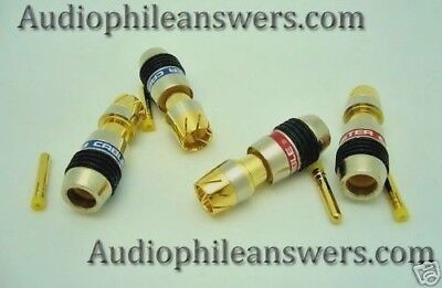 Monster Cable QuickLock M500 RCA connector set of 4 DIY Audio cable connectors  Monster Cable Quicklock