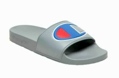 Champion Grey Blue Red Mens Slides Sandals Comfortable Sizes 8-12