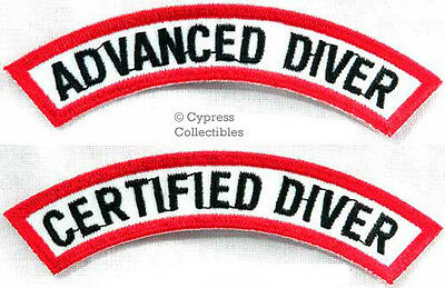 ADVANCED + CERTIFIED DIVER CHEVRON 2 SCUBA DIVING PATCH embroidered iron-on