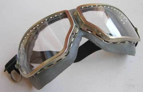 Old-fashioned Soviet WWII Aviator and Tank Goggles, N type, NEW OLD STOCK