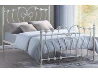 King size metal bed