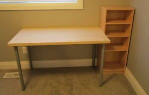 Office desk with bookcase