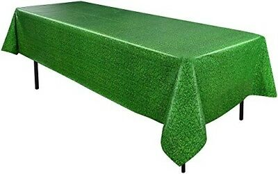 Vibrant Green Grass Table Cover, Table Cloth, Plastic, Easter Party Decorations - Grass Table Cover