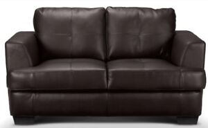 LIKE NEW BROWN LEATHER SOFA MOVING SALE