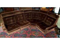 Mid Century Parker Knoll modular corner Sofa