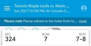 Leafs vs Canadiens St Pattys Day!!