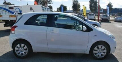 2010 Toyota Yaris NCP90R MY10 YR White 4 Speed Automatic Hatchback Bellevue Swan Area Preview