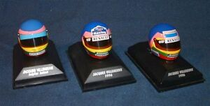 Collection Jacques Villeneuve formule un 1:8 casques diecast