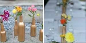 GOLD bottles assorted. Party/Wedding decor