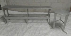 PLATE ALUMINUM BENCH AND STOOL