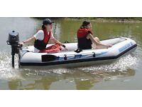 Navigator 3 heavy duty polymer rib boat with 2 stroke engine