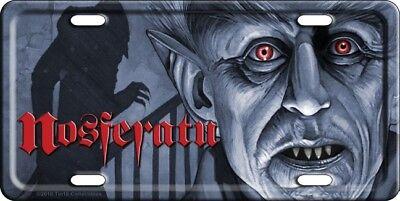Nosferatu License Plate Car Tag NEW! Vampire Dracula Max Schreck