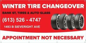 Tire Installation & Balancing / No Appointment required -Same day service (Within 60 minutes)