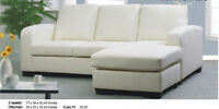 2PCS SECTIONAL BONDED LEATHER $499 NO TAX
