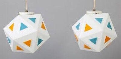 Original Orange Replacement Triangles for Vintage Burger Chef Restaurant Light