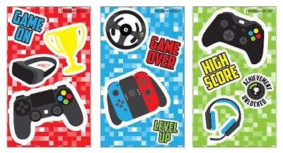 6, 12, 24, 48 Mini Gamer Notebooks Party Note Pad Loot Bag Fillers XBOX NINTENDO - Xbox Party Supplies