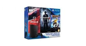 PS4 1TB Triple Pack (Uncharted 4 + The Last of Us: Remastered + Driveclub). Brand new!