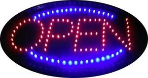 LED OPEN Sign with Static On or Chasing Light Features