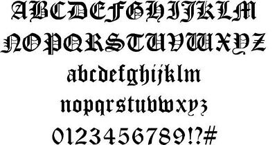 Old English Font Dxf Of Plasma Laser Cut - Cnc Vector Dxf File