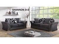 chenille grey fabric and black leather corner or 3plus2 sofa set with many more sofas on offer