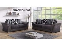 highest quality british made chenille fabric and leather 3 + 2 sofa set or corner sofas lots to see
