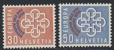 Schweiz Nr. 681-682 postfrisch / **, PTT-Konferenz 1959 (44236)