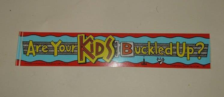 Retro Sticker - Are Your Kids Buckled up?  Seatbelt promotion