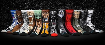 NEW Stance Star Wars Socks Darth Vader Kylo R2D2 Skywalker Imperial Empire Jedi