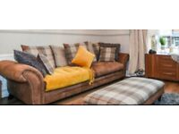 Chesterfield sofas 2 + 3 + Footstool