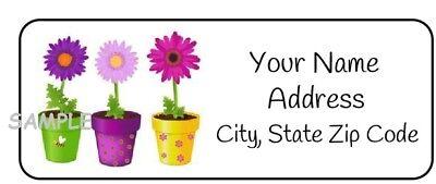 30 Personalized Flower Return Address Labelsfloralprettystickerstagsflowers