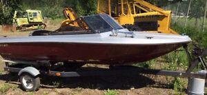 13' runabout / fish boat on trailer