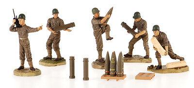 WWII US Artillery Crew: 1:32 Scale Crewmen & Ammunition for Artillery Diorama (Weapon Toys)