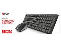 Brand new Trust Ximo Wireless Keyboard(Key Board)/Mouse Black-from a smoke&pet free house