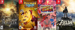 Switch Games For Sale or Trade - Octopath, Zelda, Rayman, SF2