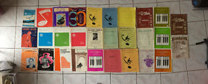 Collection of sheet music and books