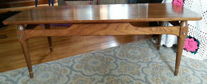 Vintage solid walnut chesley coffee table