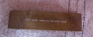 WWII BRITISH NAVY Solid Brass PARALLEL ROLLING RULE Patt.160100