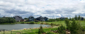 Top quality new home for sale NW Edmonton backing onto lake!