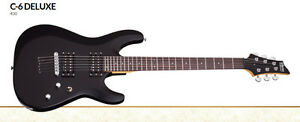 Schecter C-6 Deluxe Electric Guitar - Flat Black