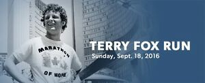 The Terry Fox Run Sunday, September 18th, 2016
