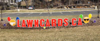 LawnCards.ca - Greeting cards for your lawn!