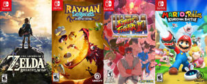Switch Games For Sale or Trade - Zelda, Mario, Rayman, Ult SF2
